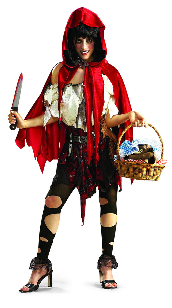 Womens/Teens Little Dead Riding Hood Costume - HalloweenCostumes4U.com - Adult Costumes
