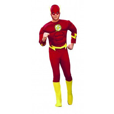 Mens Deluxe The Flash Muscle Chest Costume - HalloweenCostumes4U.com - Adult Costumes