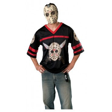 Mens/Teens Friday the 13th Jason Jersey and Mask - HalloweenCostumes4U.com - Adult Costumes