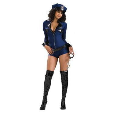 Womens/Teens Miss Demeanor Police Officer Costume - HalloweenCostumes4U.com - Adult Costumes