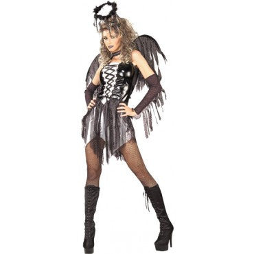 Womens/Teens Fallen Angel Costume - HalloweenCostumes4U.com - Adult Costumes