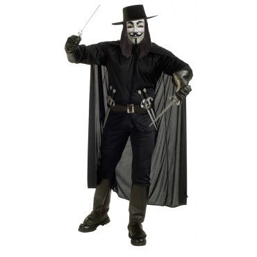Mens Deluxe V for Vendetta Costume - HalloweenCostumes4U.com - Adult Costumes