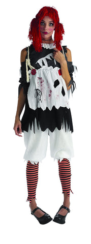Womens/Teens Dead Rag Doll Costume - HalloweenCostumes4U.com - Adult Costumes