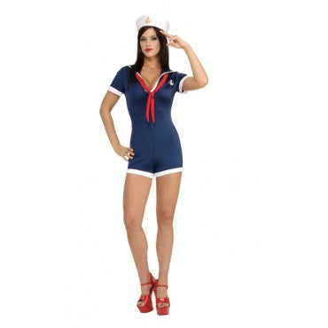 Womens/Teens Port-O-Call Navy Costume - HalloweenCostumes4U.com - Adult Costumes