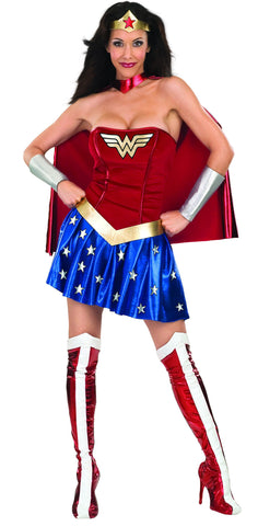 Womens/Teens Deluxe Wonder Woman Costume - HalloweenCostumes4U.com - Adult Costumes