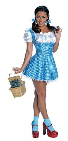 Womens/Teens Wizard of Oz Sequin Dorothy Costume - HalloweenCostumes4U.com - Adult Costumes