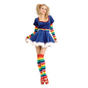 Womens/Teens Rainbow Girl Costume - HalloweenCostumes4U.com - Adult Costumes