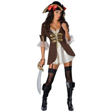 Womens/Teens Buccaneer Pirate Costume - HalloweenCostumes4U.com - Adult Costumes
