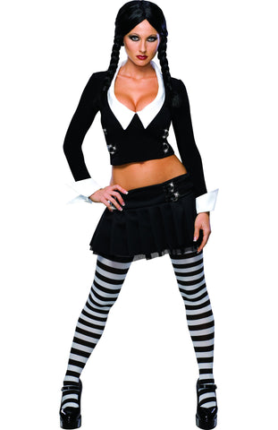 Womens/Teens Addams Family Wednesday Addams Costume - HalloweenCostumes4U.com - Adult Costumes