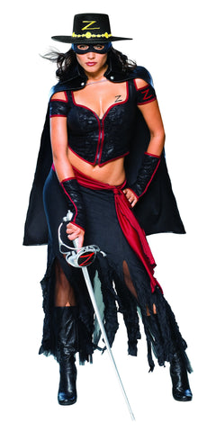 Womens/Teens Zorro Costume - HalloweenCostumes4U.com - Adult Costumes