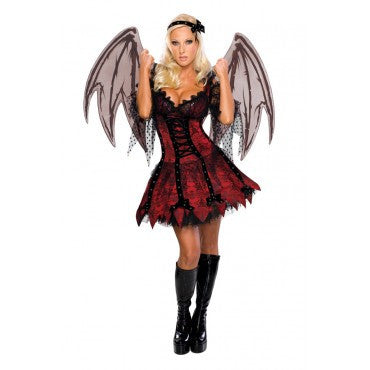 Womens/Teens Vampire Fairy Costume - HalloweenCostumes4U.com - Adult Costumes