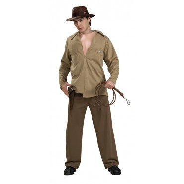 Mens Deluxe Indiana Jones Muscle Chest Costume - HalloweenCostumes4U.com - Adult Costumes
