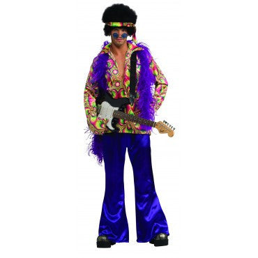 Mens Purple Daze Hippie Costume - HalloweenCostumes4U.com - Adult Costumes