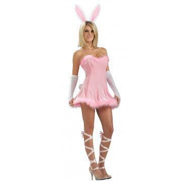 Womens/Teens Pink Bunny Costume - HalloweenCostumes4U.com - Adult Costumes
