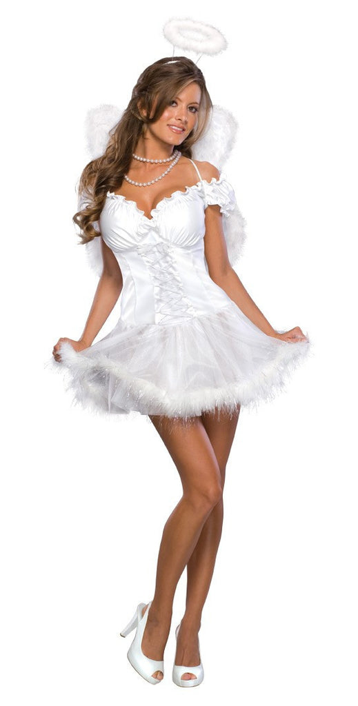 Womens/Teens Heavenly Angel Costume - HalloweenCostumes4U.com - Adult Costumes