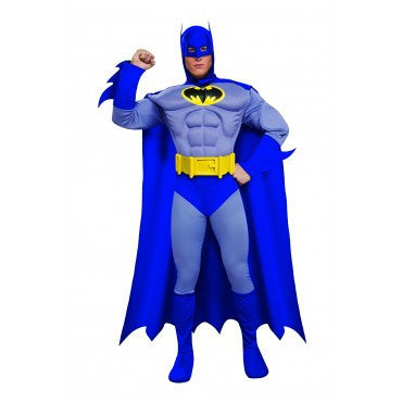 Mens Deluxe Batman Muscle Chest Costume - HalloweenCostumes4U.com - Adult Costumes