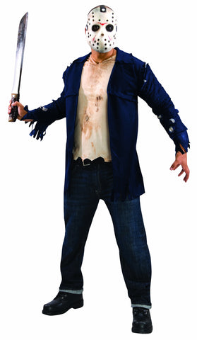 Mens Friday the 13th Deluxe Jason Voorhees Costume - HalloweenCostumes4U.com - Adult Costumes