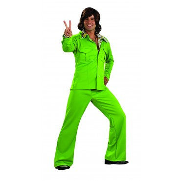 Mens Green Leisure Suit - HalloweenCostumes4U.com - Adult Costumes