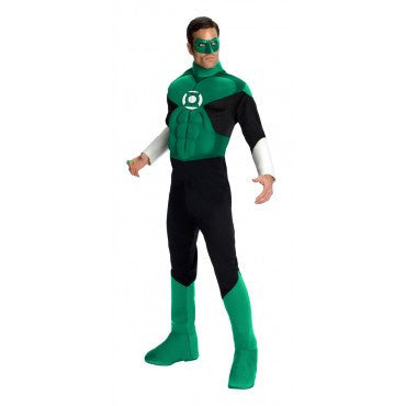Mens Deluxe Green Lantern Muscle Chest Costume - HalloweenCostumes4U.com - Adult Costumes