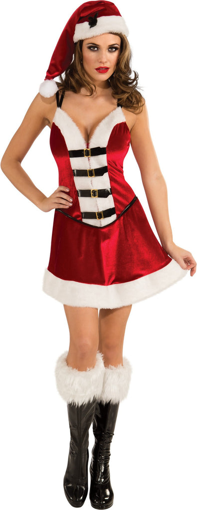 Womens/Teens Playboy Santa Baby Costume - HalloweenCostumes4U.com - Adult Costumes