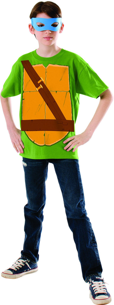 Boys Ninja Turtles Leonardo Shirt & Mask - HalloweenCostumes4U.com - Kids Costumes
