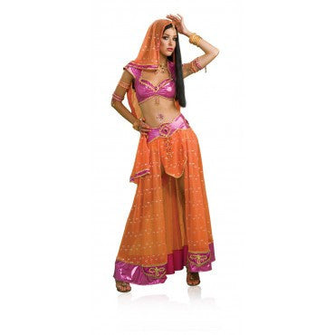 Womens/Teens Bollywood Dancer Costume - HalloweenCostumes4U.com - Adult Costumes