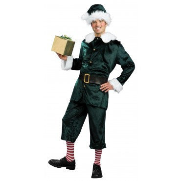 Mens Jolly Green Elf Costume - HalloweenCostumes4U.com - Adult Costumes