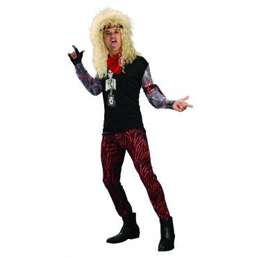 Mens 80's Hair Band Rocker Costume - HalloweenCostumes4U.com - Adult Costumes