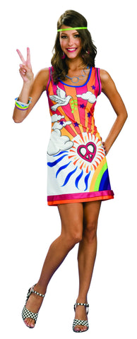 Womens 60's Hippie Costume - HalloweenCostumes4U.com - Adult Costumes