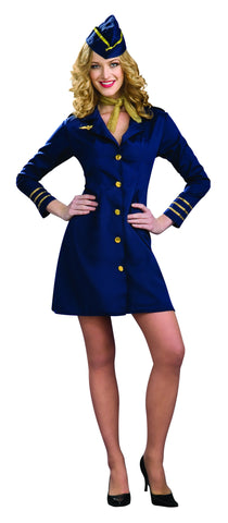 Womens Stewardess Costume - HalloweenCostumes4U.com - Adult Costumes