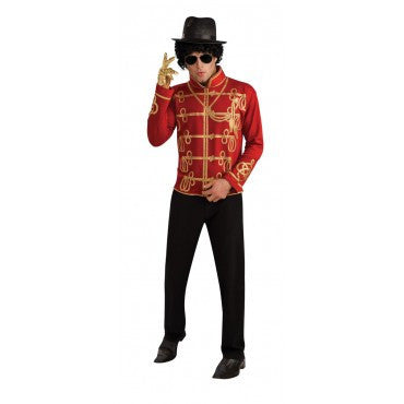 Mens Michael Jackson Red Military Jacket - HalloweenCostumes4U.com - Adult Costumes