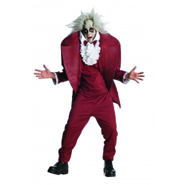 Mens Shrunken Head Beetlejuice Costume - HalloweenCostumes4U.com - Adult Costumes