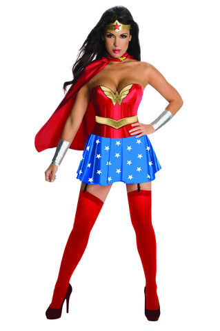 Womens/Teens Wonder Woman Corset Costume - HalloweenCostumes4U.com - Adult Costumes