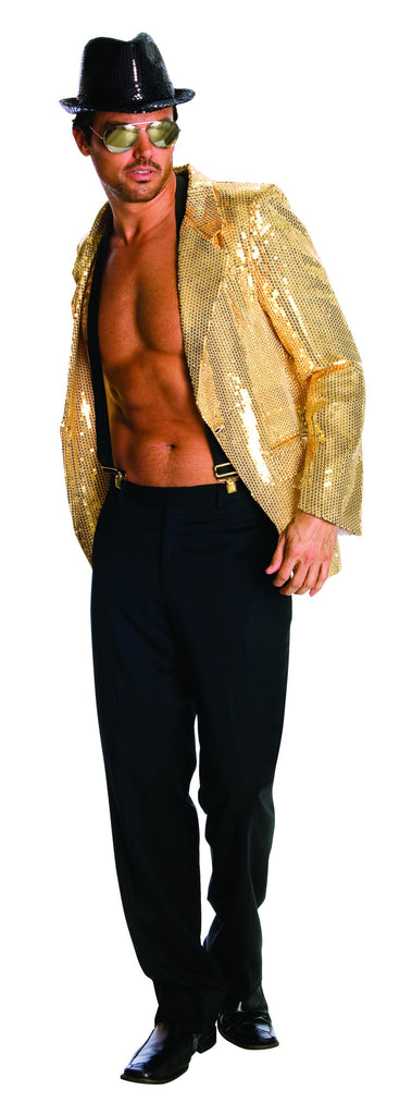 Mens Gold Sequin Blazer Jacket - HalloweenCostumes4U.com - Adult Costumes