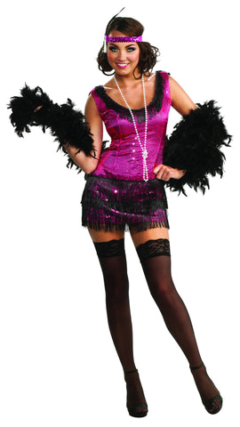 Womens Sequin Flapper Costume - HalloweenCostumes4U.com - Adult Costumes