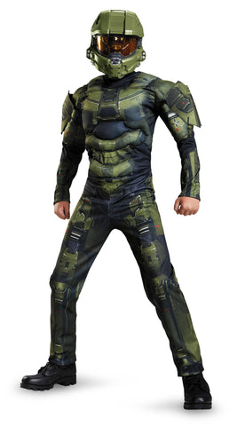 Boys Halo Master Chief Muscle Costume - HalloweenCostumes4U.com - Kids Costumes - 1