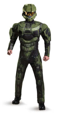 Mens Halo Deluxe Master Chief Costume - HalloweenCostumes4U.com - Adult Costumes - 1