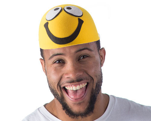 Smiley Face Emoji Hat - HalloweenCostumes4U.com - Accessories