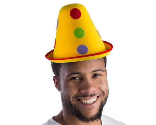 Polka Dotted Cone Hat - HalloweenCostumes4U.com - Accessories