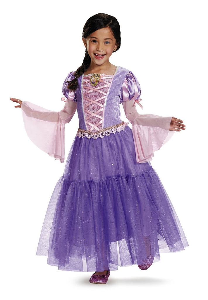 Girls Disney Princess Deluxe Rapunzel Costume - HalloweenCostumes4U.com - Kids Costumes - 1