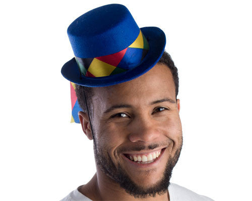 Royal Blue Mini Top Hat - HalloweenCostumes4U.com - Accessories
