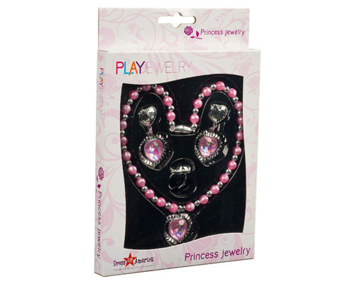 Pink Princess Jewelry Set - HalloweenCostumes4U.com - Accessories - 3
