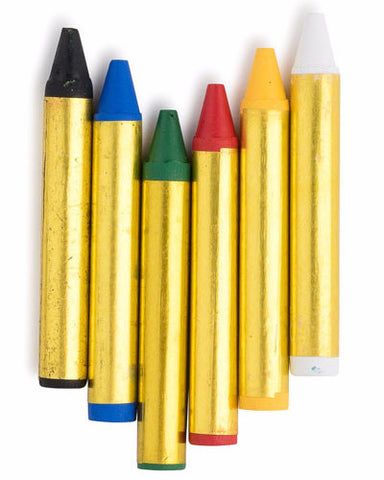 6 Color Face Paint Crayons - HalloweenCostumes4U.com - Accessories - 2