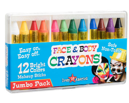 12 Color Face Paint Crayons - HalloweenCostumes4U.com - Accessories - 1