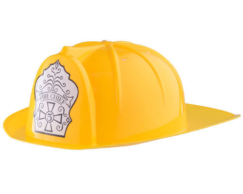 Yellow Fire Fighter Helmet - HalloweenCostumes4U.com - Accessories