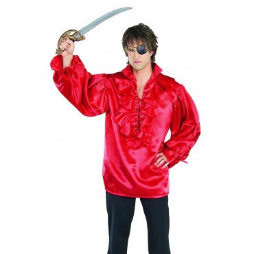 Red Mens Pirate Shirt - HalloweenCostumes4U.com - Adult Costumes