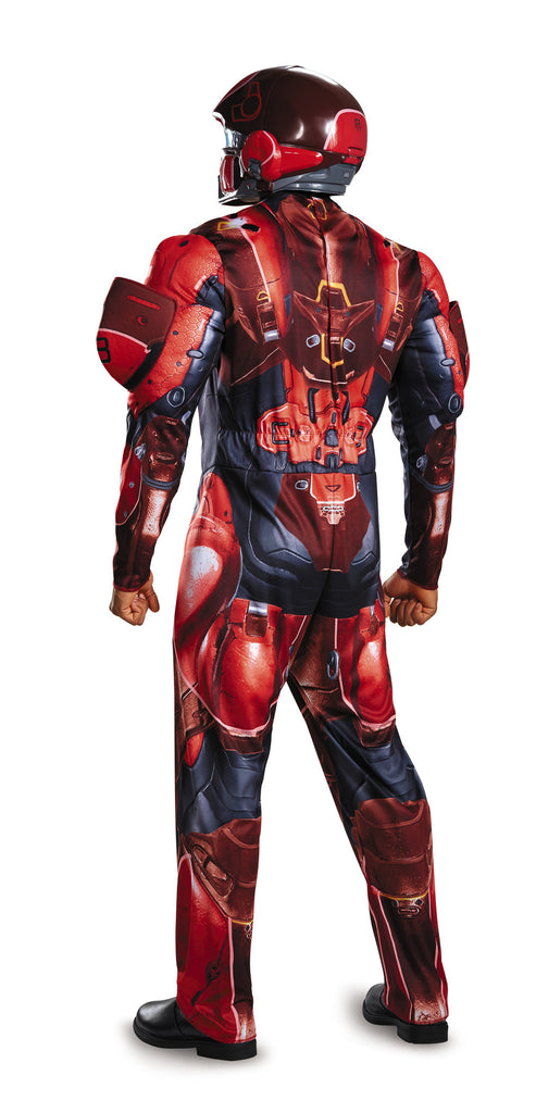 Mens Halo Deluxe Red Spartan Costume Halloween Costumes 4u Adult