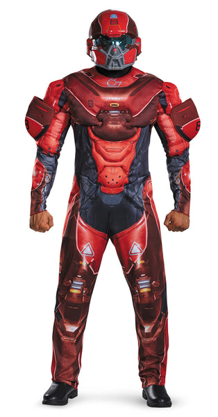 Mens Halo Deluxe Red Spartan Costume - HalloweenCostumes4U.com - Adult Costumes - 1