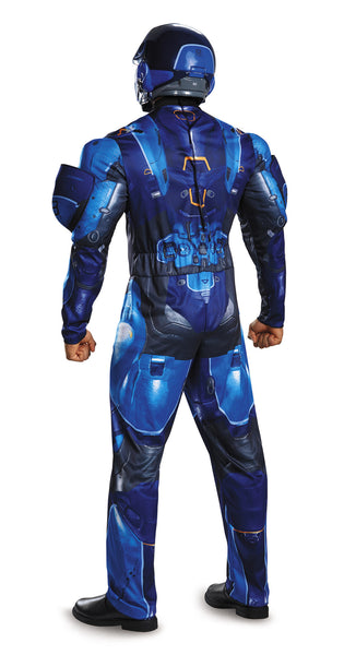 Mens Halo Deluxe Blue Spartan Costume - HalloweenCostumes4U.com - Adult Costumes - 2