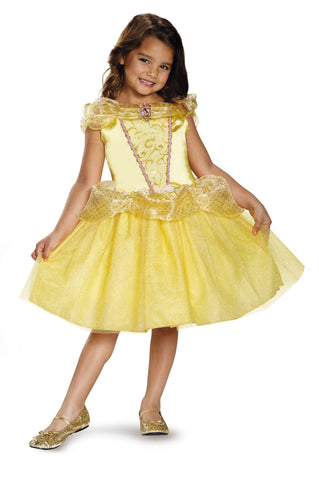 Girls Disney Princess Classic Belle Costume - HalloweenCostumes4U.com - Kids Costumes